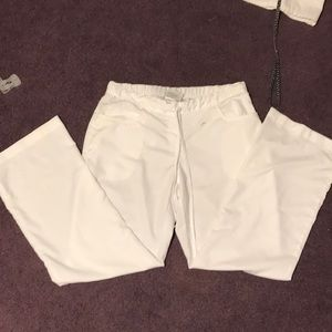 Greys anatomy white scrub pants size m set of 3
